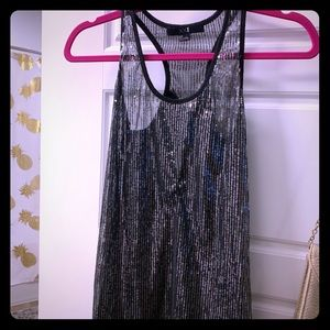 XXI Glitter Sequin Tank Top